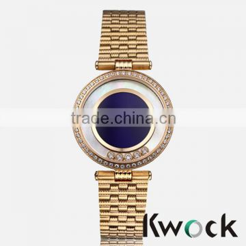 Retail or wholesales mens gold stainless steel wrist watch