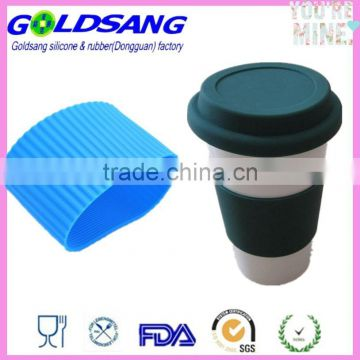 Coffee Cup Latte Cappuccino Glass Tumbler Silicone Sleeve