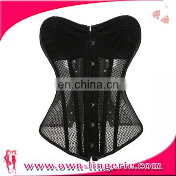 Wholesale sexy woman black Lace mesh body Slimming Shaper corset