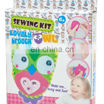 DIY owl brooch sewing kit for kids