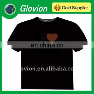 Pop hot American and European led flashing T-shirt el light-up t-shirt el animated panel t-shirt