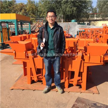 QMR2-40 small manual clay lego block machine, soil earth interlocking brick making machine price