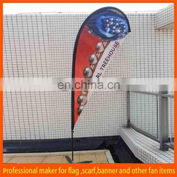 polyester advertising beach flag with poles