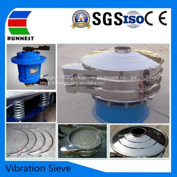 Uitrasonic vibrating screen sieve equipment used in separation equipment