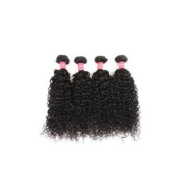 Aligned Weave Natural Black 10inch Natural Straight Long Lasting Brazilian Curly Human Hair