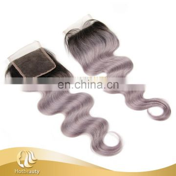 Long lasting hair best grey hair top closure body wave