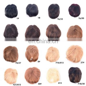 100% human hair fringe clip in hair bang wig with 18 different color