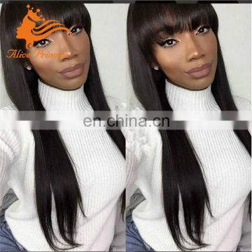 indian human hair wigs for black women with bleach knot blunt cut full lace wig free sample lace front wigs with bangs