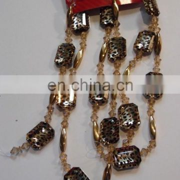 BLACK BROWN LEOPARD ANIMAL PRINT BEAD GARLAND CHRISTMAS DECORATION