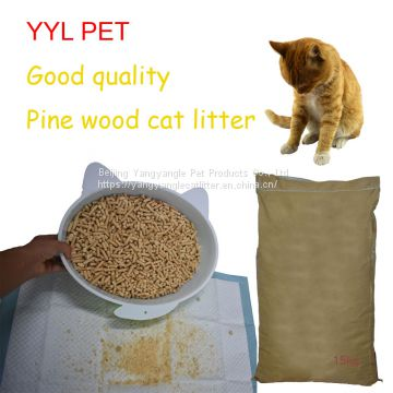 Pine wood cat litter