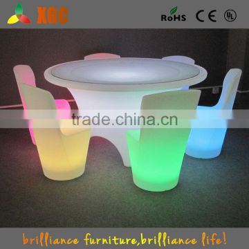 frosted glass bar table/youkexuan chairs and tables for wedding banquet