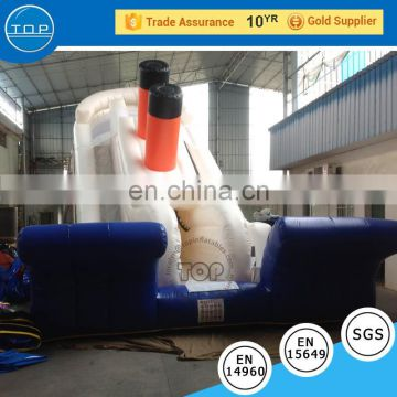 TOP INFLATABLES Hot selling giant inflatable 2017 used fiberglass water slide for sale