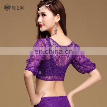 S-3101 Hot sexy flower high quality lace belly dance top
