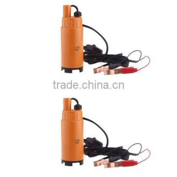 12V Water Oil Diesel Fuel Transfer Pump Submersible On/Off Switch Car Van Plastic Orange