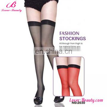 Black tight transparent women sexy leg silk stockings