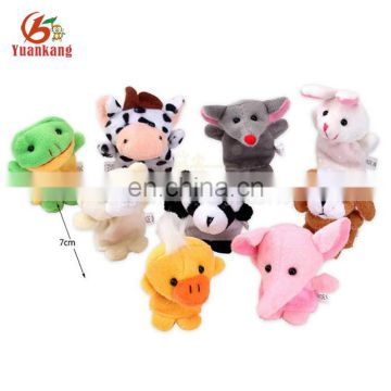 Wholesale mini stuffed funny lovely plush animal finger puppet