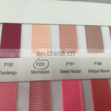 High quality zeal-x packing stock ribbon/grosgrain colors ribbon/ribbon color chart