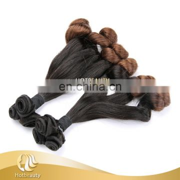 Ombre color two tone braiding hair original brazilian curly remy human hair for black women