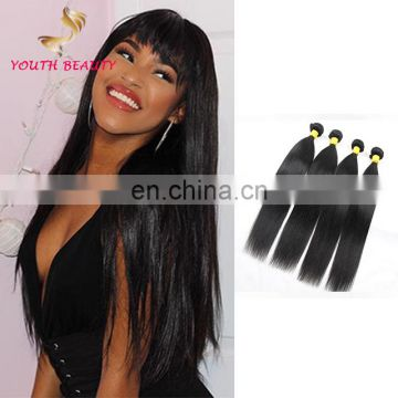 Full cuticle 100% human virgin 9A grade brazilian hair weaving in silky straight wholesale price
