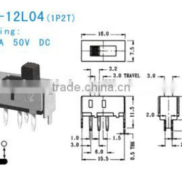 SS-12L04 Slide Switch