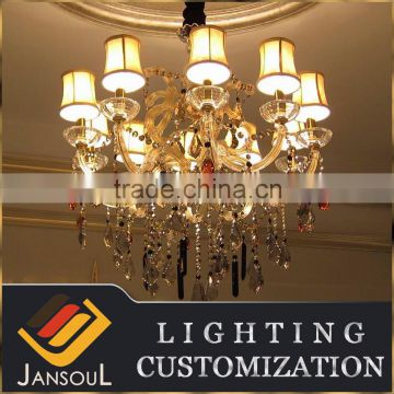 10 lights high qulity small size old gold traditional multi color maria theresa crystal chandelier                                                                                                         Supplier's Choice