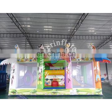 2017 newest inflatable castle kid play tent mikey commercial bounce house clearance for fun