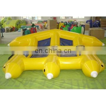 inflatable 6 seat fly fish water game, aqua fly fish toy customized colour