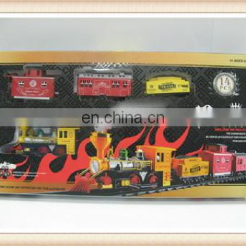 Hot sale plastic smoke train toy sets
