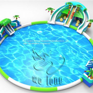 Customized design giant water slide for adult/wholesale giant inflatable water slide/used inflatable water slide for sa
