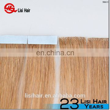 YBY High Top quality blonde curly tape hair extensions