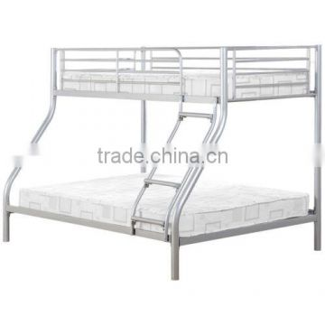Heavy duty iron single metal bed adults metal frame school bed military 3 layers triple metal bunk bed