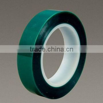 silicon adhesive coated green single faced PET tapes