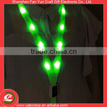 Polyester Material Light Up led flashing lanyard