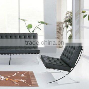 Leather barcelona chair with ottoman 8101