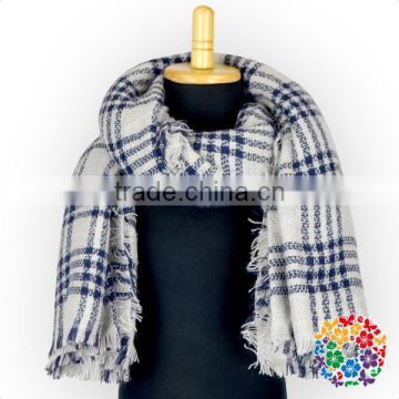 One size fit all Black White Lattices Winter Scarf for lady /Girls