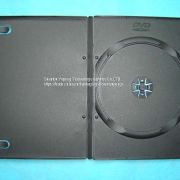 9mm pp rectange storage dvd case dvd box dvd cover single black good quality cheap price (YP-D804H)