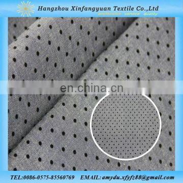 dots design flock printing denim fabric
