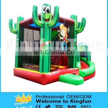 Plam Tree Inflatable jumping bouncer with sliding way/Inflatable palm combo