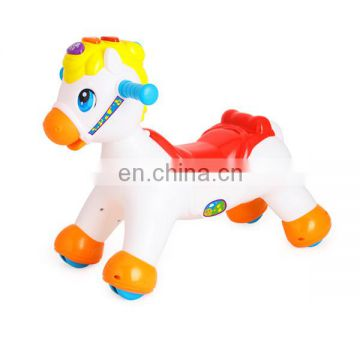 Plastic educational rocking horse electric toy with music