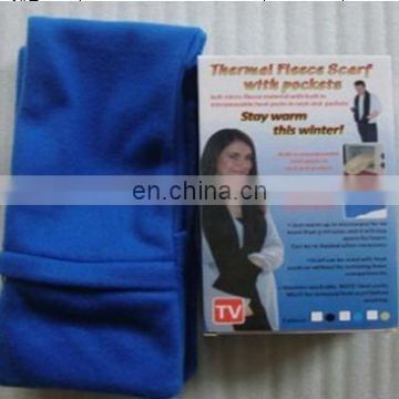 Thermal Fleece Scarf with Pockets