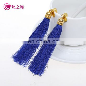 P-9083 Tribal egyption professional long women belly dance tassel earrings