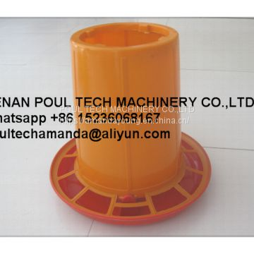 Mexico Poultry Farm Orange Plastic Chicken Feeder & Chicks Feed Tray & Small Chicks Tray & Feeding Pan in Chicken Coop
