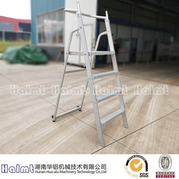 4 Steps Folding Step Ladder with Railing