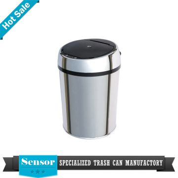 High quality sensor stainless steel advertising waste bin