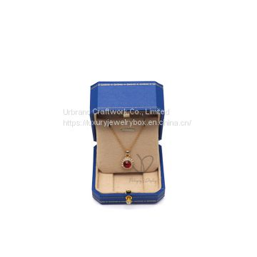 Luxury Wire Drawing Pu Custom Leather Ring Box Jewelry Packing Box Necklace Boxes
