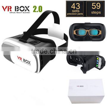 2016 New Product Portable 2nd Generation 3D VR BOX 2 Virtual Reality 3D Glasses for Blue Film Sex Video Open