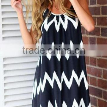 New Sexy Women Summer zig zag tassel Backless Beach Casual Dress/                                                                         Quality Choice