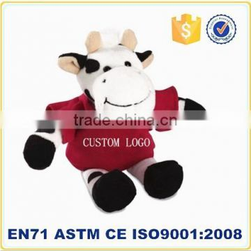 Soft Small Promotional Items China Stuffed Cow Toys Promotion Item