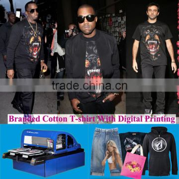 3d digital printing cotton t-shirt or other fabric composition textile