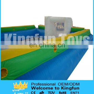 Inflatable football pitch game/soccer field sport